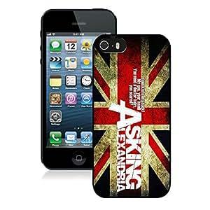 iPhone 5S Case,Asking Alexandria Black For iPhone 5S Case