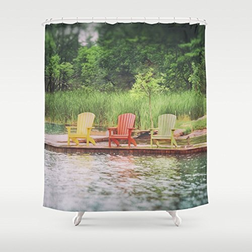 Adirondack Chair Print Shower Curtain
