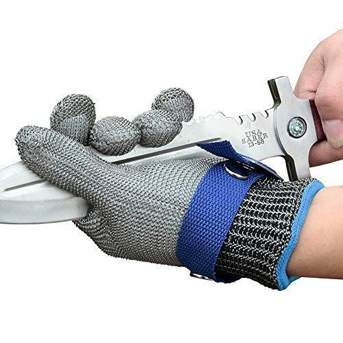 Schwer Level 9 Cut Resistant Glove Stainless Steel Mesh Metal Wire Glove Durable Rustproof Reliable Butcher Glove Latest Material