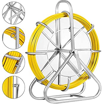 Image of Fish Tape Fiberglass Reel Wire Cable Running Rod Duct Rodder Fishtape Puller 6mm (6mm)