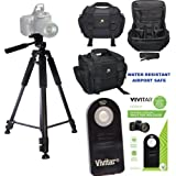PROFESSIONAL 60 TRIPOD + WELL PADDED WEATHER RESISTANT CASE + REMOTE FOR NIKON D3000 D3100 D3200 D3300 D3400 D5000 D5100 D5200 D5300 D5400 D5500 D5600