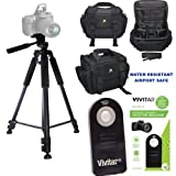 PROFESSIONAL 60'' TRIPOD + WELL PADDED WEATHER RESISTANT CASE + REMOTE FOR NIKON D3000 D3100 D3200 D3300 D3400 D5000 D5100 D5200 D5300 D5400 D5500 D5600