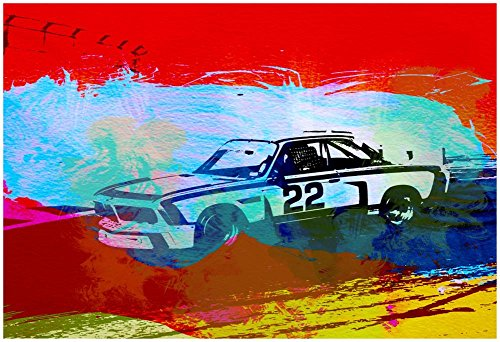Bmw 3.0 CSL Racing Poster by NaxArt 19 x 13in from Poster Revolution