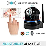 Wireless Camera, UOKOO1080p WiFi Security Camera Built-in Microphone, 2-Way Audio Remote Wireless for Baby Monitor, Motion Detection Wireless IP Webcam (620GA)