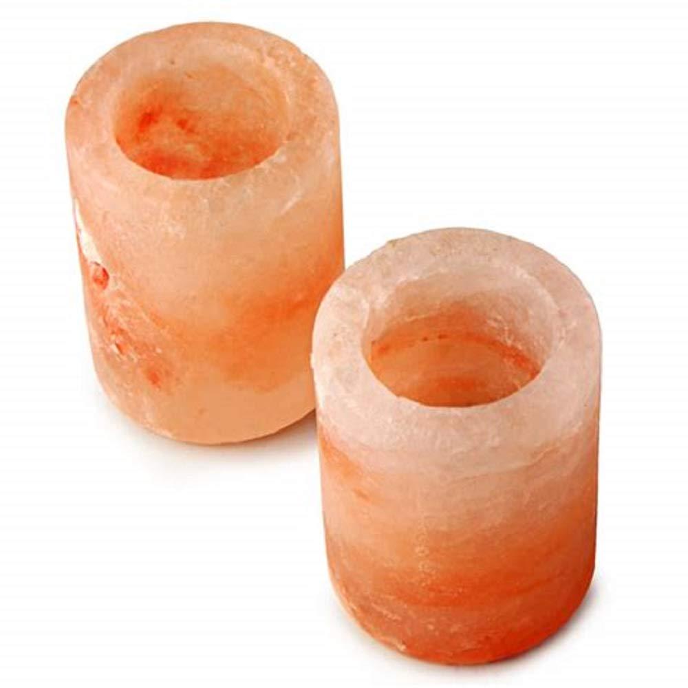 3'' Himalayan Salt Shot Glasses - 2 Pack Salt Shot Tequila Glasses. FDA Approved Ethically Sourced Natural Himalayan Salt by Q&A Himalayan Salt