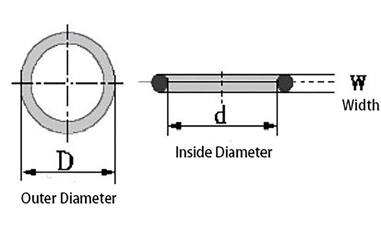 5 juntas t/óricas de silicona para juntas t/óricas de 10,0 cm de di/ámetro exterior de 3,5 cm de di/ámetro interior 0,6 cm de ancho Flyshop