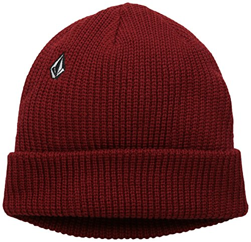 Men's Full Stone Beanie, Deep Red, One Size