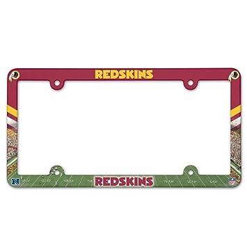 washington redskins license plate frame full color