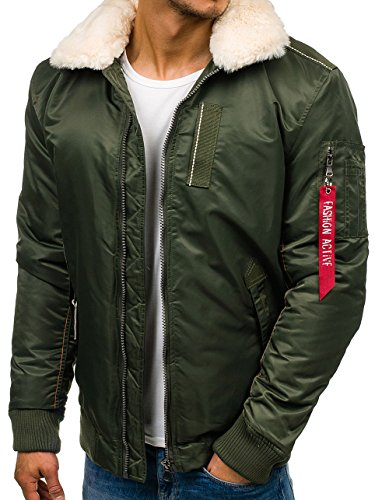 Chaqueta 1026 Verde Entretiempo Elegante BOLF Hombre Mix De aAq55w