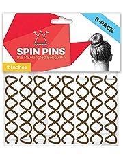 Hawwwy Spiral Bobby Pins 8 Pack Spin Pins, Easy & Fast Bun Maker Twist Hair Pins for Women Kids, Updo Hair Accessories, Messy Bun Tool, Perfect Small Bun Bobbypins Bobbie Fashion (Brown 2 Inches)