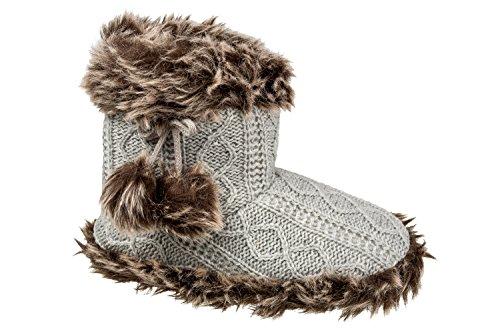 gibra - Zapatillas de estar por casa de tela para mujer 42 gris claro