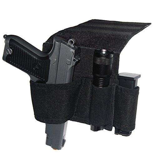 Terrernce Tactical Bed Pistol Holster, Adjustable Car Handgun Holster, Mattress Gun Holster Fits Glock, M&P, 1911, Ruger Etc - Frame Pistol
