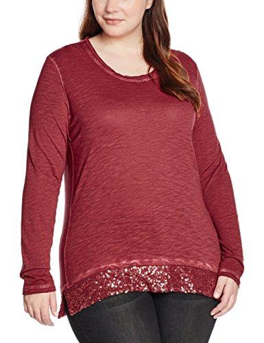 Frapp, Camiseta de Manga Larga para Mujer Rot (Ruby Red 324)