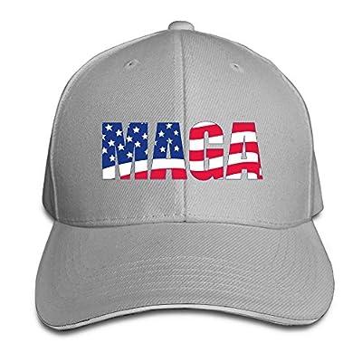 Adult Vintage MAGA America Flag Snapback Hat Dad Hat Black Sandwich Peaked Cap Ash