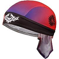 Gorro de ciclismo transpirable con calavera, bandana,