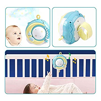 Baby Musical Crib Mobile with Remote Control, ADSRO Baby Bed Bell Rattle lastic Hanging Rattles Stars Light Flash, Music Box for Kids Newborn Baby Infant Toys : Baby