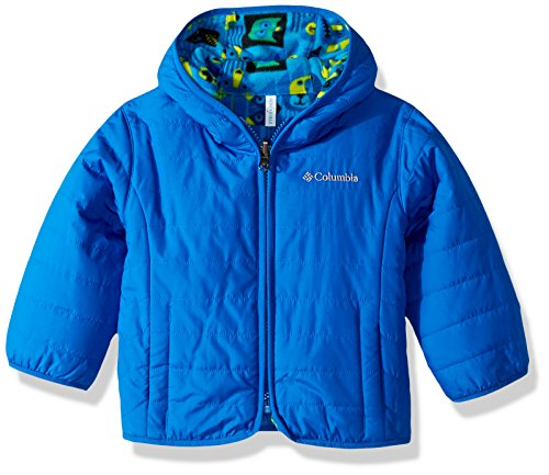 4t Jacket (Columbia Toddler Boys' Double Trouble Jacket, Super Blue Critter Blocks, 4T)
