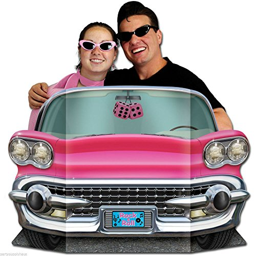 50s Sock Hop PINK CADILLAC CONVERTIBLE PHOTO PROP Party Decoration GREASE - 50s Toy