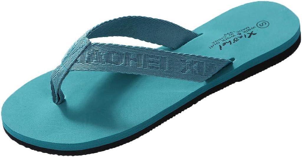 Wadonerful Womens Fashion Flip-Flop Floral Applique Wedges Shoes Outdoor Soft Bottom Roman Shoes Slippers Beach Sandals