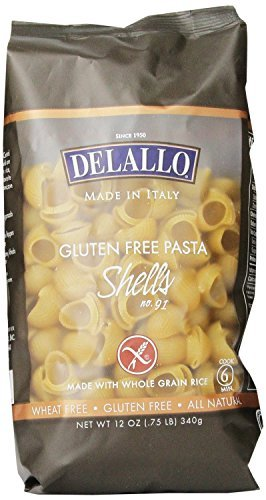 LUTEN FREE PASTA Shells 4 x 12 Oz = 48 Oz by DeLallo ()
