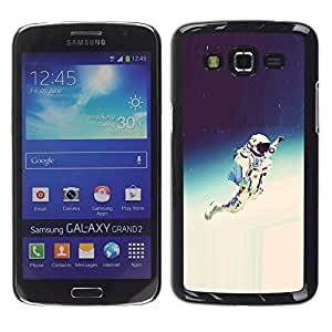 EJOY---Cubierta de la caja de protección la piel dura para el / Samsung Galaxy Grand 2 / --Espacio Astronauta Hipster