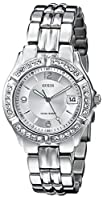 Used, fair condition; GUESS Women's Stainless Steel Crystal