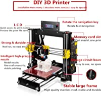 ZR-Printing 3D Printer, Prusa I3 Mk8 Printer Wood High Precision LCD Screen Desktop DIY 3D Printer Kit with Free 1.75mm ABS/PLA Printer Filament (Upgrade Prusa I3) by ZR-Printing