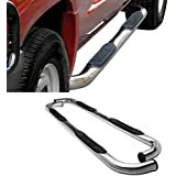 """CAREPAIR Fit 2001-2003 Ford F150 Supercrew/Crew Cab (with 4 Full Size Doors) 3"""" Round Stainless Steel Side Step Rails Nerf Bar Running Boards"""