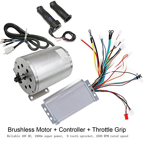 Motor Controller Circuit (TDPRO 48V 1800W Brushless Electric Motor and Controller with Throttle Grip Set for e-Bike Scooter Go Kart ATV Moped Motorized Bicycle)