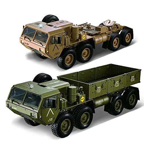1/12 8X8リモートコントロールトラック2.4GHZ rc U.S.militaryトラック防水服、rc車サイズ:74x22x24cm B07SCRTGG2