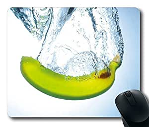 Fresh Banana Gaming Mouse Pad Personalized Hot Oblong Shaped Mouse Mat Design Natural Eco Rubber Durable Computer Desk Stationery Accessories Mouse Pads For Gift - Support Wired Wireless or Bluetooth Mouse