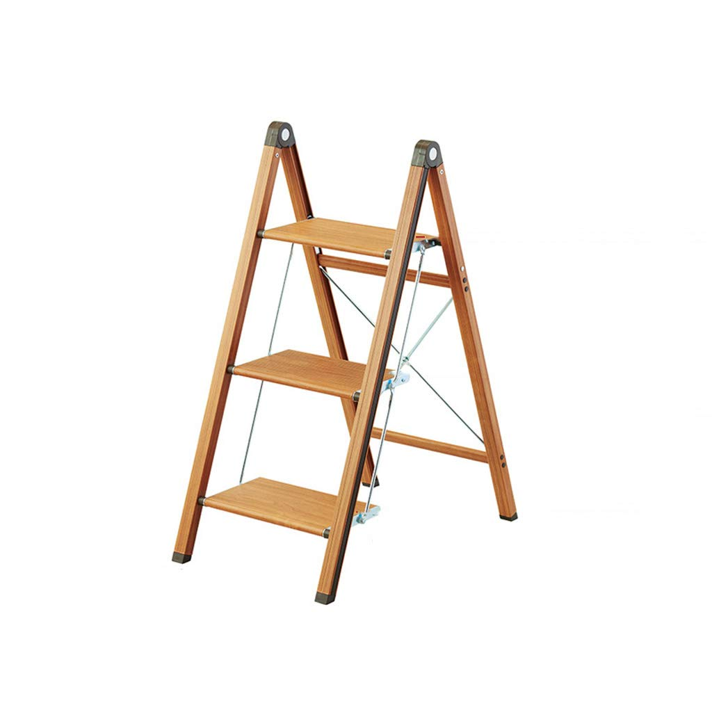 3 steps GLJJQMY Aluminum Folding Ladder Stool Home Narrow Stool Stool Herringbone Ladder Flower Shelf, 2 3 Steps (color   2 Steps)