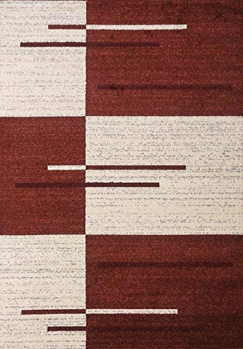 Msrugs Monaco Collection Red Area Rugs for Living Room 3 x5 – 5 x7 – 8 x10