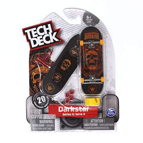 Tech Deck Darkstar Skateboards Ultra Rare Series 8 Orange Skull Fingerboard with Griptape