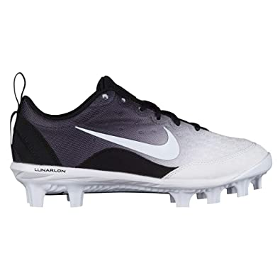 Nike Women s Hyperdiamond 2 Pro MCS Softball Cleat Black White Wolf Grey  Size 6 808b5882af
