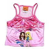Bratz Lil Girls Pink 2 Piece Pajama Tank Top & Short Sleepwear Set Sz. 4/5