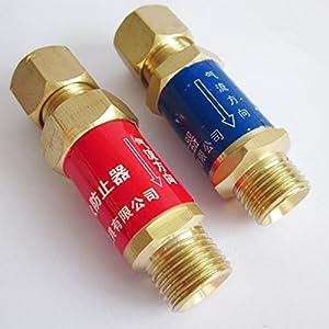 Oxygen Acetylene Flashback Arrestor M16*1.5 For Pressure Reducer Regulator Plasma Cutting Machine