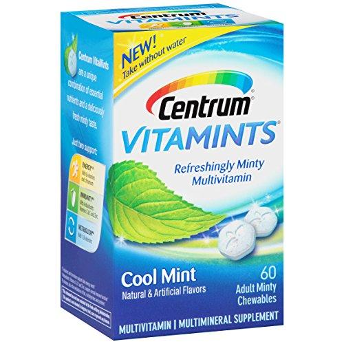 Cheap Centrum VitaMints (60 Count, Cool Mint Flavor) Multivitamin/Multimineral Supplement Chewables