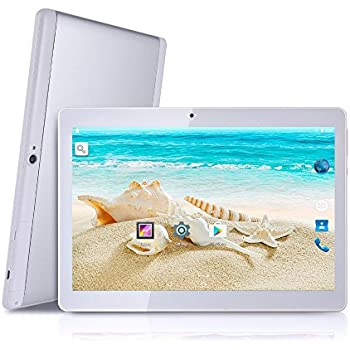 Tagital 10.1 inch Android 5.1 Quad Core Tablet Dual SIM Cell Phone Tablet PC, 1280 x 800 IPS Screen, Dual Camera, Unlocked GSM , 2G/3G Phablet
