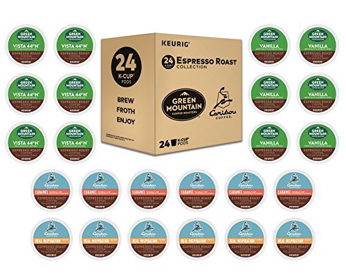 Keurig Espresso Roast K-Cup Variety Sample Pack, Single Serve Coffee Pods, Makes Delicious Latte or Cappuccino Style Beverages, Compatible With all Keurig 1.0, 2.0 and K-Café Coffee Makers, 24 Count