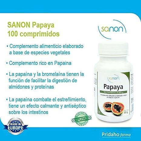 SANON - SANON Papaya 100 comprimidos de 600 mg