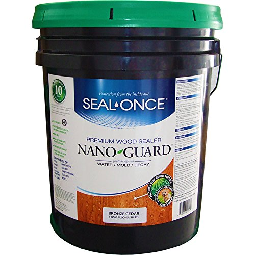 Seal Once 3117 premixed Nano Guard Premium Wood Sealer Bronze Cedar 5-gallon by Seal Once