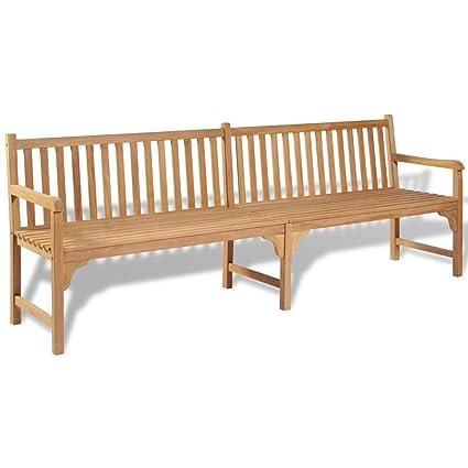 Marvelous Amazon Com Homedecor Outdoor Patio Teak Garden Bench 94 5 Machost Co Dining Chair Design Ideas Machostcouk