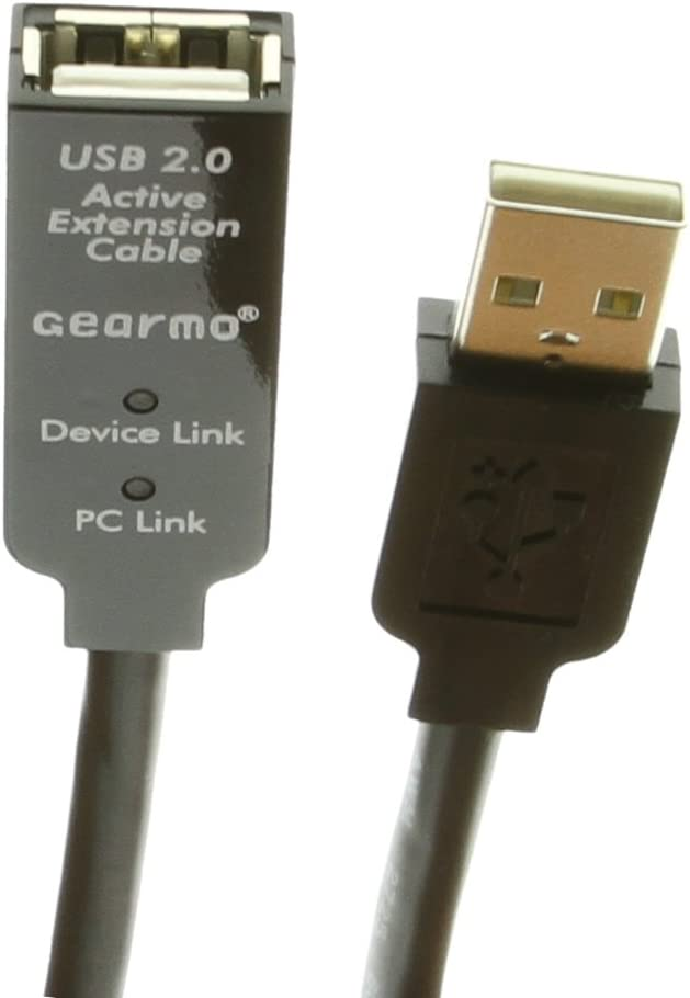 USB 2.0 Active Extension Cable A Gearmo 30ft male with LED Indicators female to A