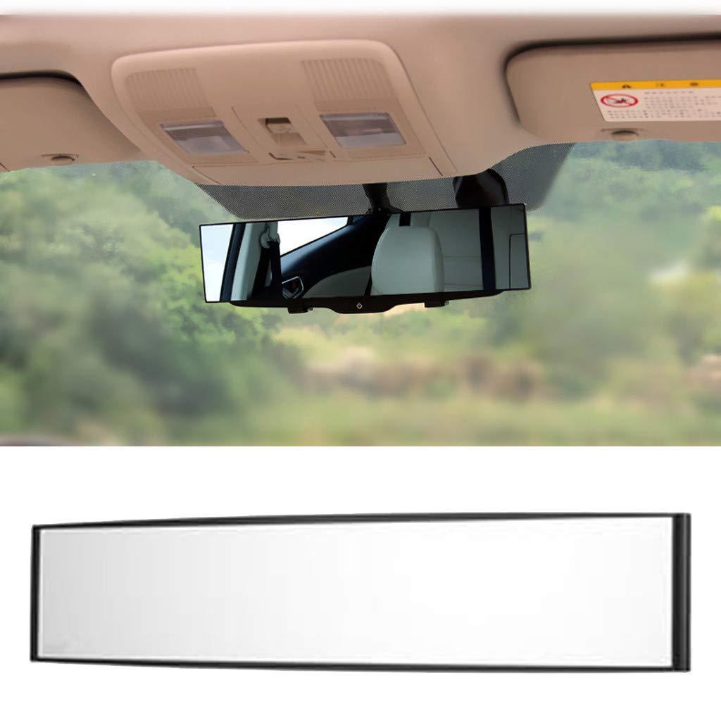Schwarz wyxhkj 300mm Gro/ßansicht innen gekr/ümmten Spiegel Breite Kurve Innen Clip Auf R/ückansicht R/ückspiegel Universal Auto