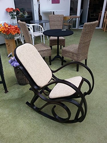 Price comparison product image Brand new wood rocking chair bright tapestry fabric black color of wood Michael Thonet armchair wooden antique style