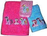 pinkie and blue boy - My Little Pony ~ Bath Towel Set ~ 100% Cotton