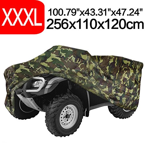 NEVERLAND 190T Quad Waterproof UTV ATV Cover For Polaris Honda Yamaha Suzuki Camouflage XXXL by NEVERLAND (Image #1)