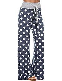Women's Comfy Soft Stretch Floral Polka Dot Pajama Pants