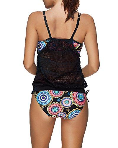 2 Costumi Swimsuit Stampa Bikini da Tankini Stile2 Sportivo Swimwear Donna Bagno Parti 4qwBYRCC